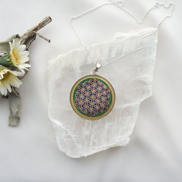 Flower of Life & Malachite