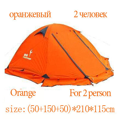 FLYTOP Winter tent 2 persons double layer windproof waterproof professional camping tent