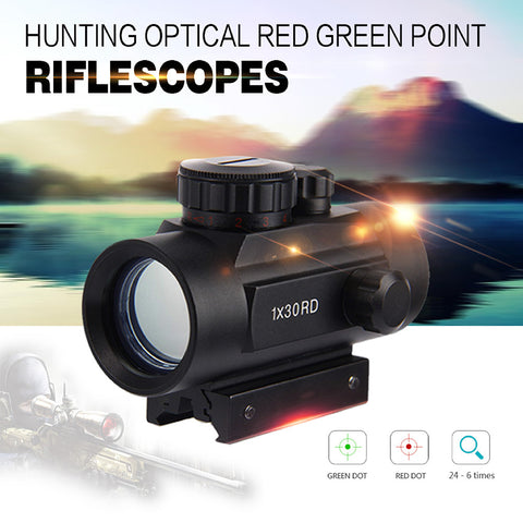 New 1 x 30RD Riflescope Tactical Holographic Red Green Dot SShot Gun Hunting Airsoft