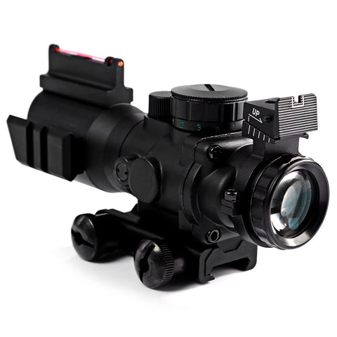 Airsoftsports Gun Riflescope 4x32  Reticle Fiber Optic Sight Scope