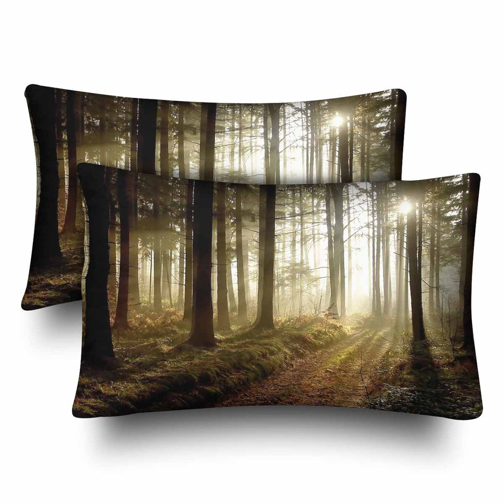 Tree And Mountains Themed Pillow Cases Zenzzle