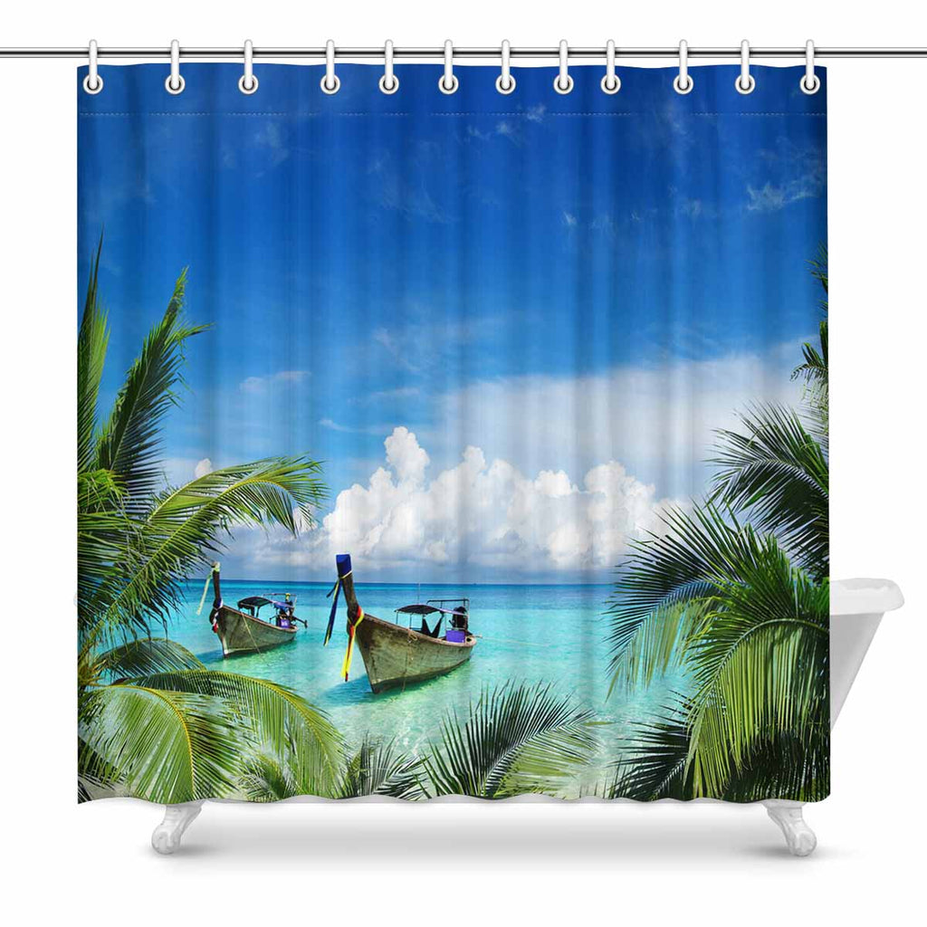 Tropical Themed Shower Curtains Zenzzle