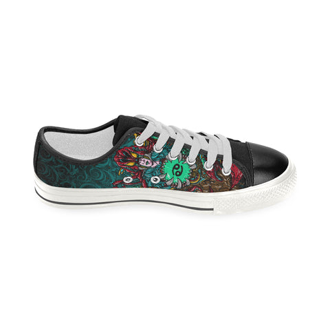 Cancer Sign Canvas Women Shoes Green Style