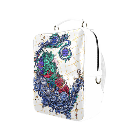 Aquarius Square Backpack White