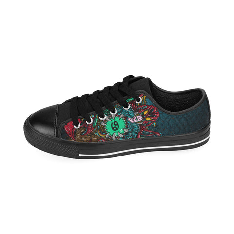 Cancer Sign Aquila Men Canvas Shoes Green Style
