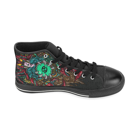Cancer High Top Canvas Women Shoes Back Color(Large Size)