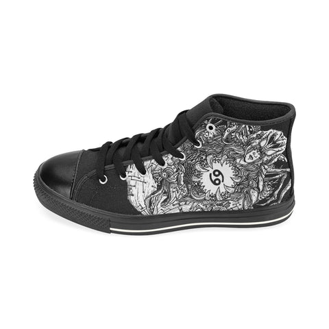 Cancer Sign Aquila High Top Men Canvas Shoes Back Color(Large Size)