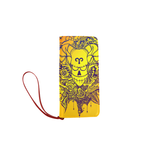 Aries Sign Women Clutch Purse Yellow Color