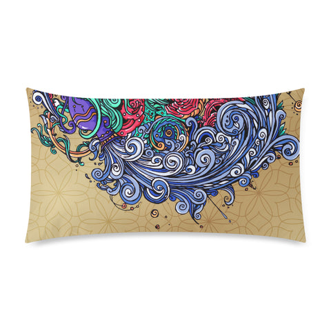 Aquarius Rectangle Pillow Case (One Side)
