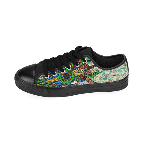 Gemini Sign Canvas Women Shoes Green Style(Large Size)