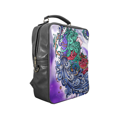 Aquarius Square Backpack Purple