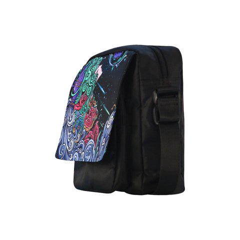 Aquarius Cross-body Nylon Bags Black
