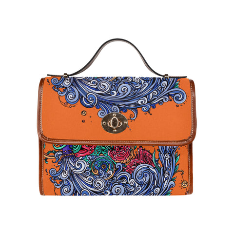 Aquarius Waterproof Canvas Bag Orange