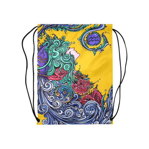 Aquarius Drawstring Bags Yellow (Medium)