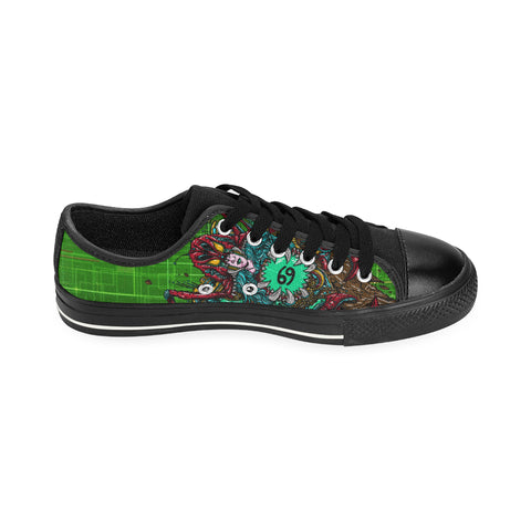 Cancer Sign Aquila Men Canvas Shoes Green Color(Large Size)
