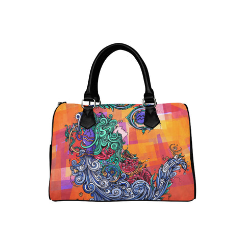 Aquarius Barrel Type Handbag Orange