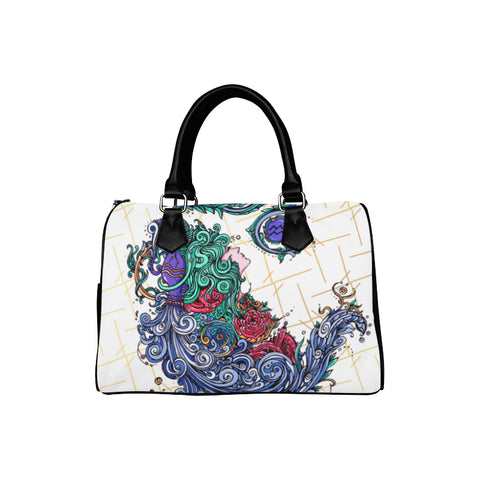 Aquarius Barrel Type Handbag White
