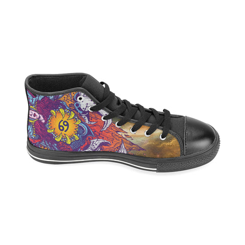 Cancer Sign Aquila High Top Men Canvas Shoes Multicolor Style(Large Size)