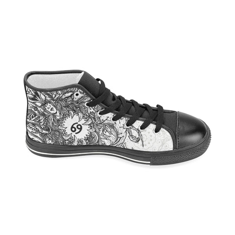Cancer Sign Aquila High Top Men Canvas Shoes Back White Style