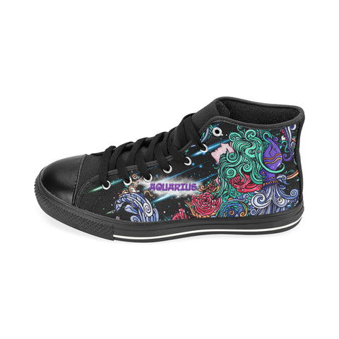 Aquarius High Top Canvas Women Shoes (Large Size)