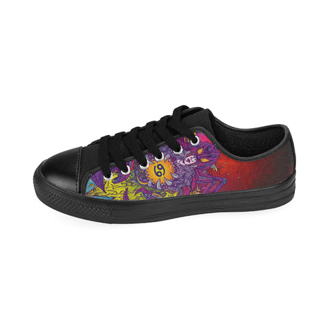 Cancer Sign Canvas Wome ShoesPurple Style (Large Size)