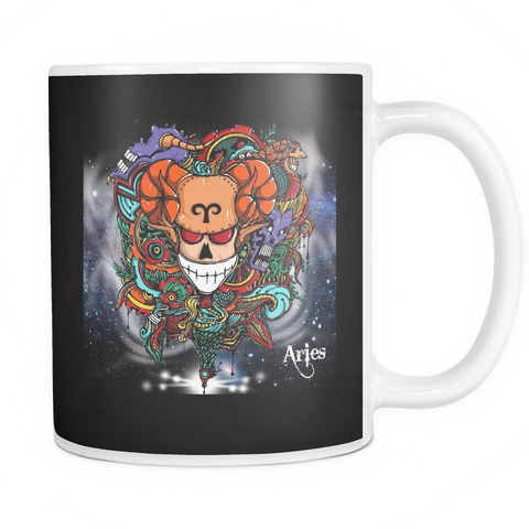 Aries Sign Mug Back Color