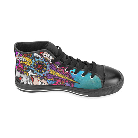 Gemini Sign Aquila High Top Men Canvas Shoes Multicolor Style(Large Size)