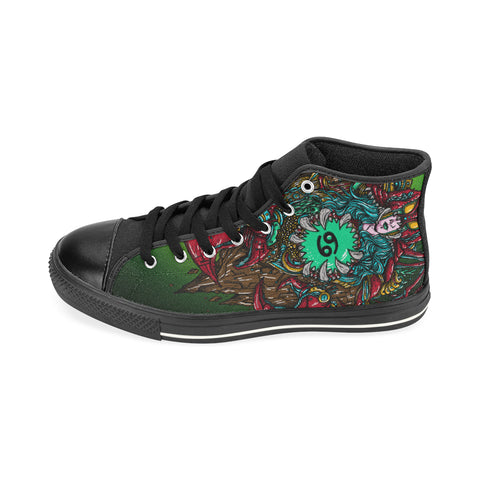 Cancer Sign Aquila High Top Men Canvas Shoes Green Color(Large Size)