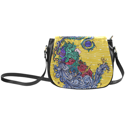 Aquarius Classic Saddle Bag Yellow (Small)
