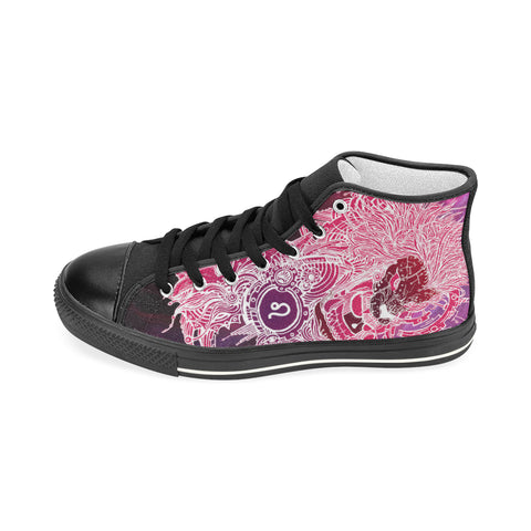 Leo Sign Aquila High Top Men Canvas Shoes Pink Style