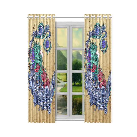 Aquarius Window Curtain Light Yellow(One Piece)