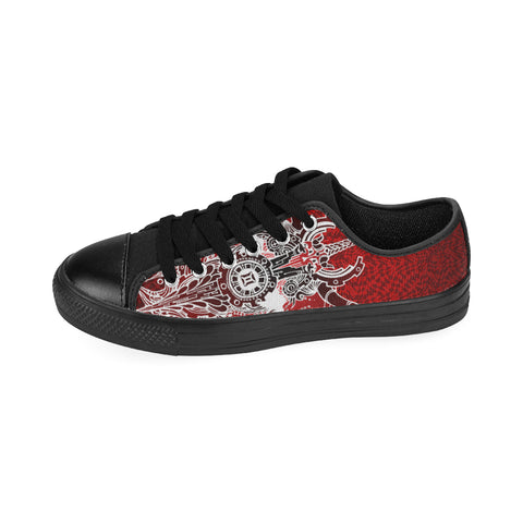 Gemini Sign Canvas Women Shoes  Red Color(Large Size)