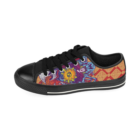 Cancer Sign Aquila Men Canvas Shoes Brocade Color(Large Size)