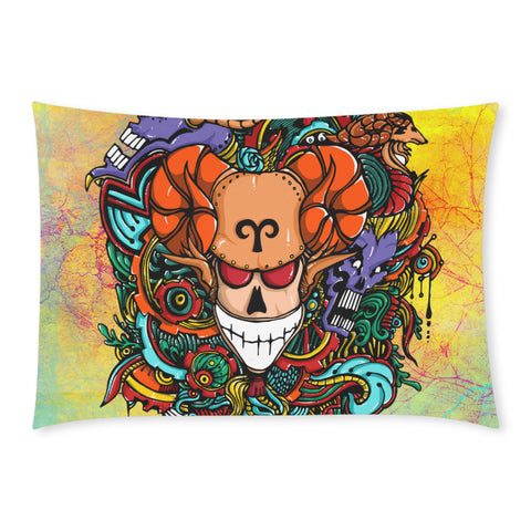 Aries Sign Rectangle Pillow Case Multicolor Style One Side)