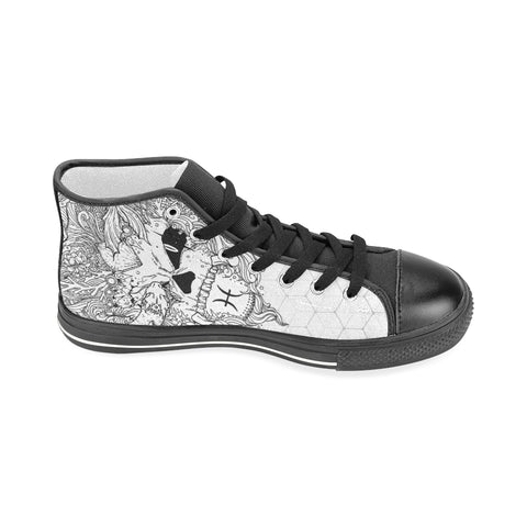 Pisces Sign Aquila High Top Men Canvas Shoes Style 2