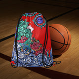 Aquarius Drawstring Bags Red (Medium)