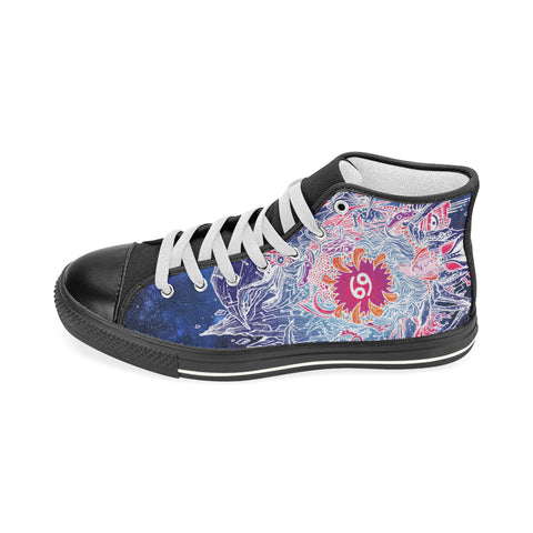 Cancer Sign Aquila High Top Men Canvas Shoes Blue Color