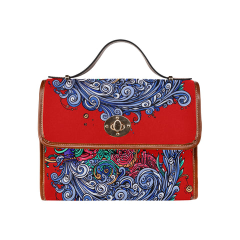 Aquarius Waterproof Canvas Bag Red