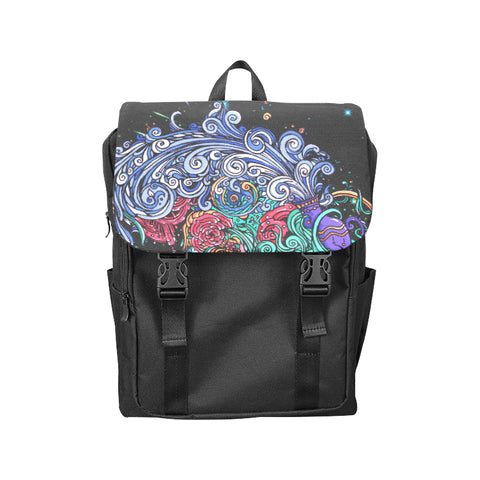 Aquarius  Shoulders Backpack Black