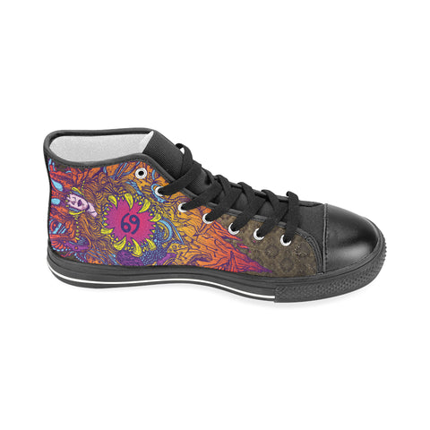 Cancer Sign Aquila High Top Men Canvas Shoes Multicolor Style