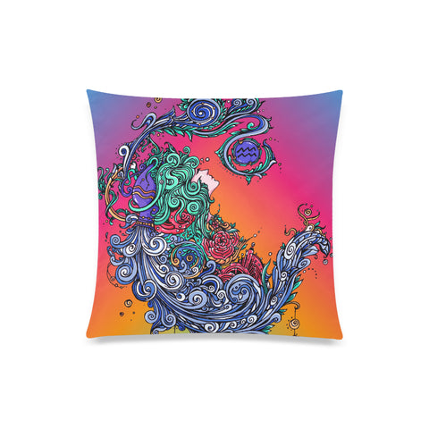 Aquarius Throw Pillow Cover Rainbow(One Side)