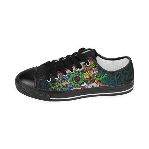 Gemini Sign Aquila Men Canvas Shoes Green Style