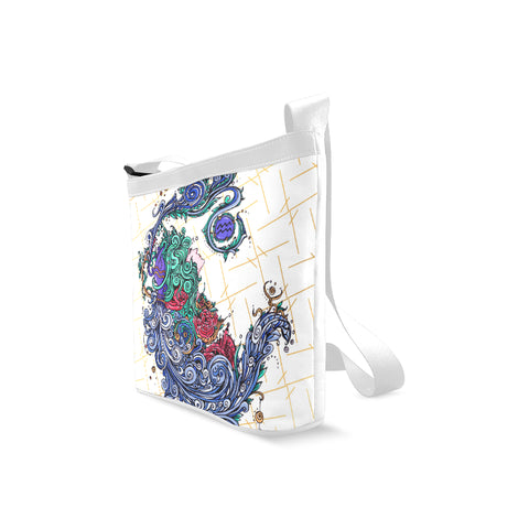 Aquarius Shoulder Sling Bag White