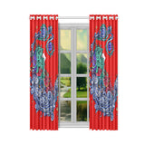 Aquarius Window Curtain Red (One Piece)