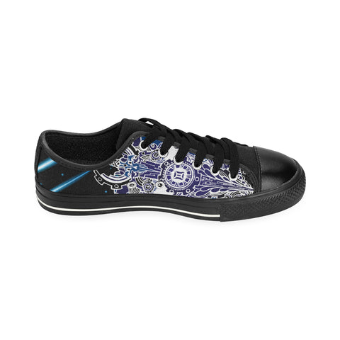 Gemini Sign Aquila Men Canvas Shoes Falling Star Style(Large Size)