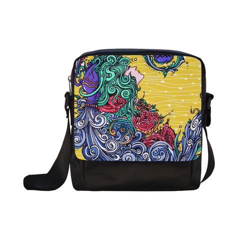 Aquarius Cross-body Nylon Bags Yellow