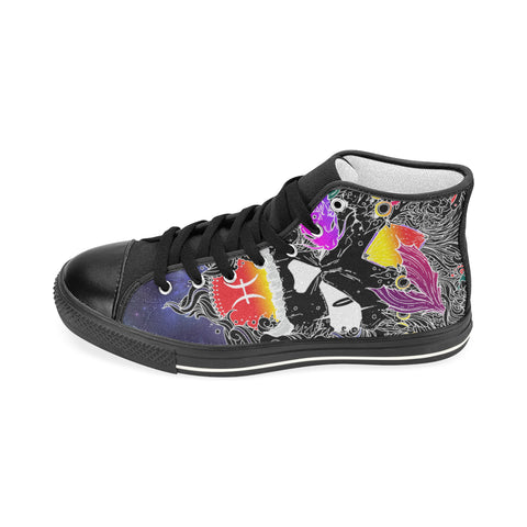 Pisces Sign Aquila High Top Men Canvas Shoes Style 1