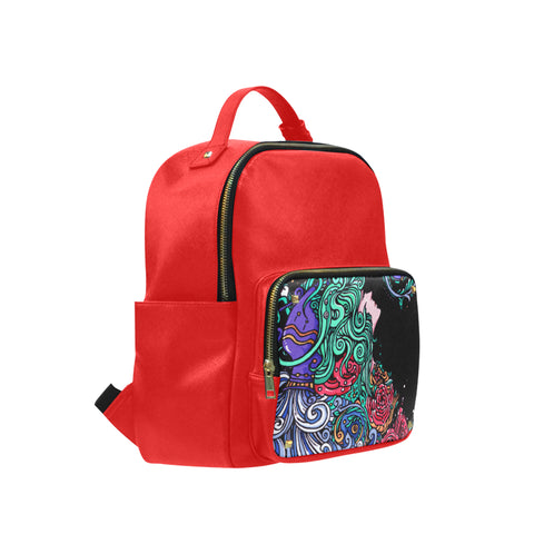 Aquarius Leisure Backpack Red Black (Big)