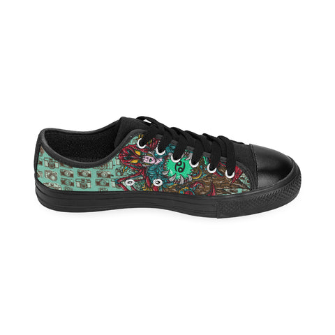 Cancer Sign Canvas Women Shoes Green Style(Large Size)