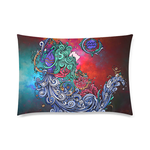 Aquarius Rectangle Pillow Case Rainbow(One Side)